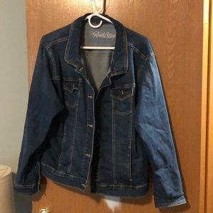 "Denim jacket ""rock star"" from old navy"